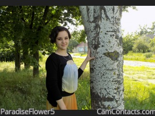 Webcam model ParadiseFlower5 from CamContacts