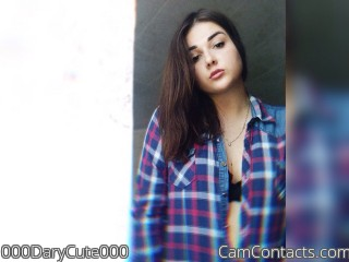 Webcam model 000DaryCute000 from CamContacts