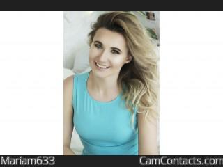 Webcam model Mariam633 profile picture