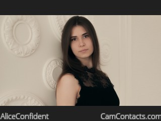 Webcam model AliceConfident from CamContacts