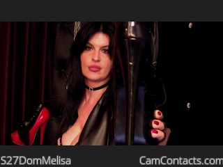 Webcam model S27DomMelisa from CamContacts