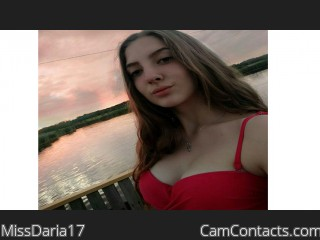 Webcam model MissDaria17 from CamContacts