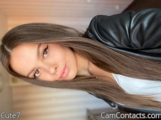 Webcam model Cute7 from CamContacts