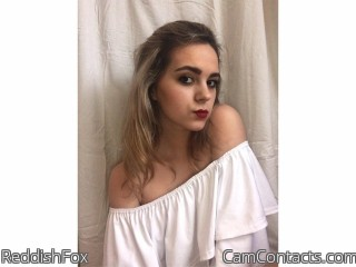 Webcam model ReddishFox from CamContacts