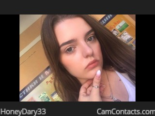 Webcam model HoneyDary33 from CamContacts