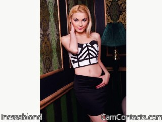 Webcam model Inessablond from CamContacts