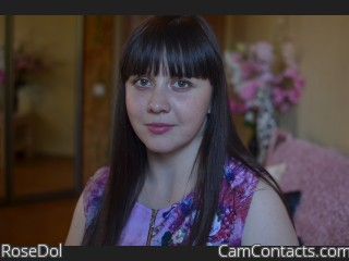 Webcam model RoseDol from CamContacts