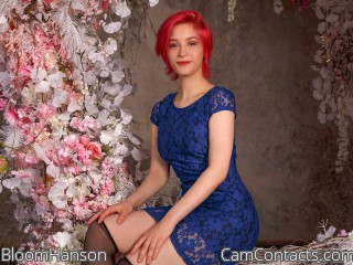 Webcam model BloomHanson from CamContacts
