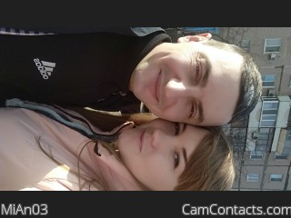 Webcam model MiAn03 from CamContacts