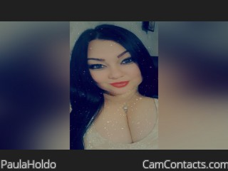 Webcam model PaulaHoldo from CamContacts