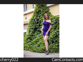 Webcam model cherry022 from CamContacts