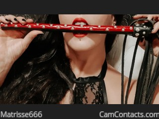 Webcam model Matrisse666 from CamContacts
