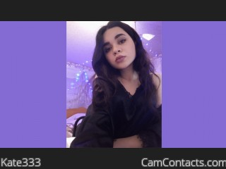 Webcam model Kate333 from CamContacts