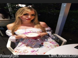 Webcam model FoxxxyEyes from CamContacts