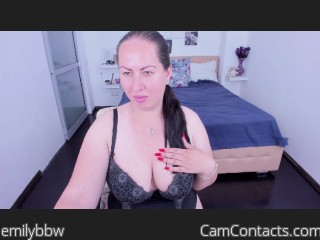 Webcam model emilybbw from CamContacts