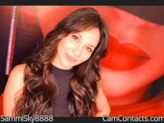 Webcam model SammiSky8888 from CamContacts