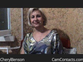 Webcam model CherylBenson from CamContacts