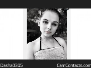 Webcam model Dasha0305 from CamContacts