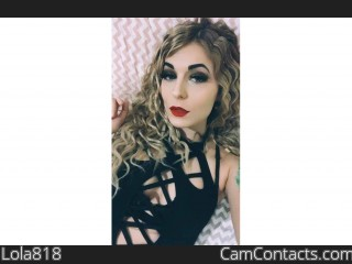 Webcam model Lola818 from CamContacts