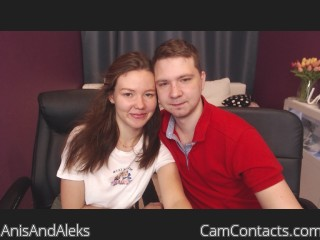 Webcam model AnisAndAleks from CamContacts