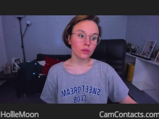 Webcam model HollieMoon from CamContacts