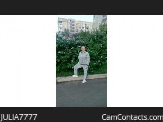 Webcam model JULIA7777 from CamContacts
