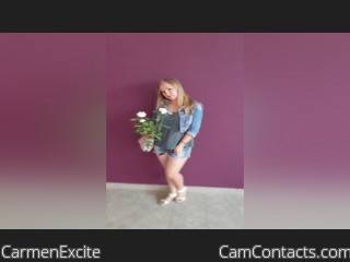 Webcam model CarmenExcite from CamContacts