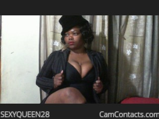 Webcam model SEXYQUEEN28 from CamContacts