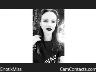 Webcam model EnotikMiss from CamContacts