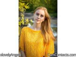 Webcam model xlovelyAngelx from CamContacts