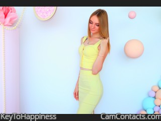 Webcam model KeyToHappiness from CamContacts