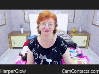 Webcam model HarperGlow from CamContacts