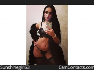 Webcam model Sunshinegirl63 from CamContacts