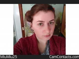 Webcam model MiuMiu25 from CamContacts