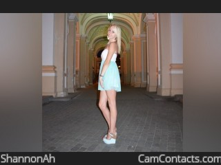 Webcam model ShannonAh from CamContacts