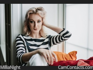 Webcam model MilliaNight from CamContacts