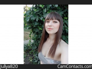 Webcam model Juliya820 from CamContacts