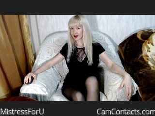 Webcam model MistressForU from CamContacts
