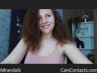 Webcam model MirandaSi from CamContacts