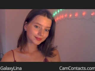 Webcam model GalaxyLina from CamContacts