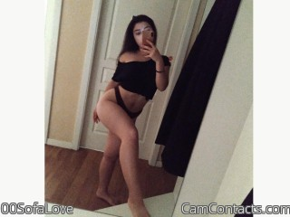 Webcam model 00SofaLove from CamContacts