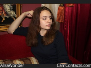 Webcam model AlisaWonder from CamContacts