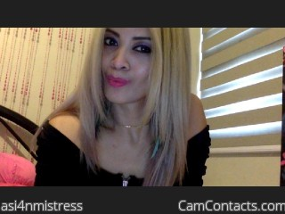 Webcam model asi4nmistress from CamContacts