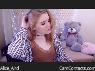 Webcam model Alice_Aird from CamContacts