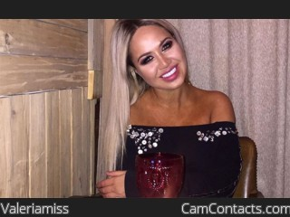 Webcam model Valeriamiss from CamContacts