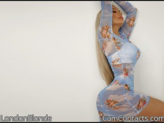 Webcam model LondonBlonde from CamContacts