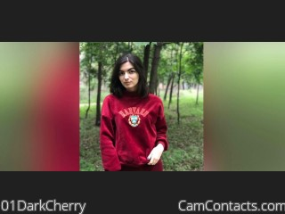 Webcam model 01DarkCherry from CamContacts