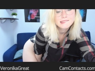 Webcam model VeronikaGreat from CamContacts