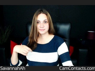 Webcam model SavannahAh from CamContacts