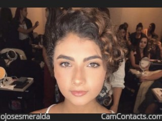 Webcam model ojosesmeralda from CamContacts